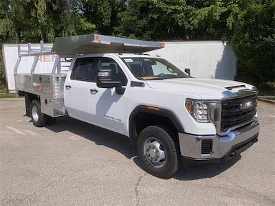 2021 Sierra 3500 Crew Cab 4x4,  Monroe Truck Equipment AL Series Platform Body Contractor Body #2621113 - photo 3