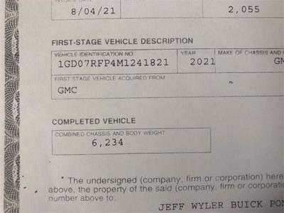 2021 Savana 3500 4x2,  Supreme Cutaway Van #2621134 - photo 52