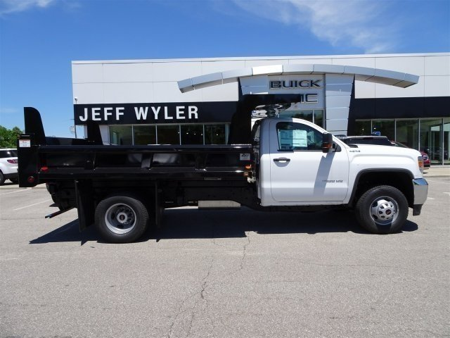 2017 Sierra 3500 Regular Cab DRW 4x4, Rugby Dump Body #X20498 - photo 4