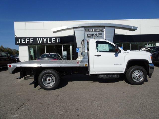 2018 Sierra 3500 Regular Cab DRW 4x4, Hillsboro Platform Body #X20535 - photo 5