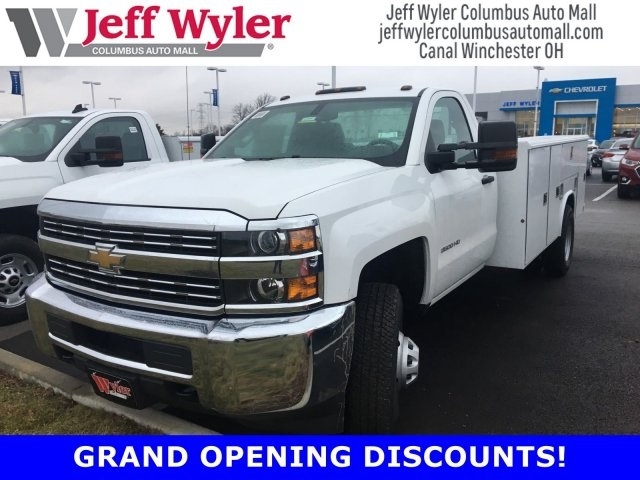 2017 Silverado 3500 Regular Cab DRW 4x4,  Reading Classic II Steel Service Body #S90555 - photo 1