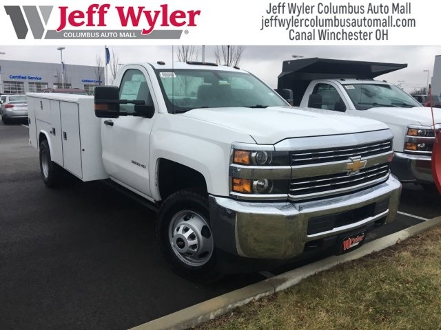 2017 Silverado 3500 Regular Cab DRW 4x4,  Reading Classic II Steel Service Body #S90555 - photo 3