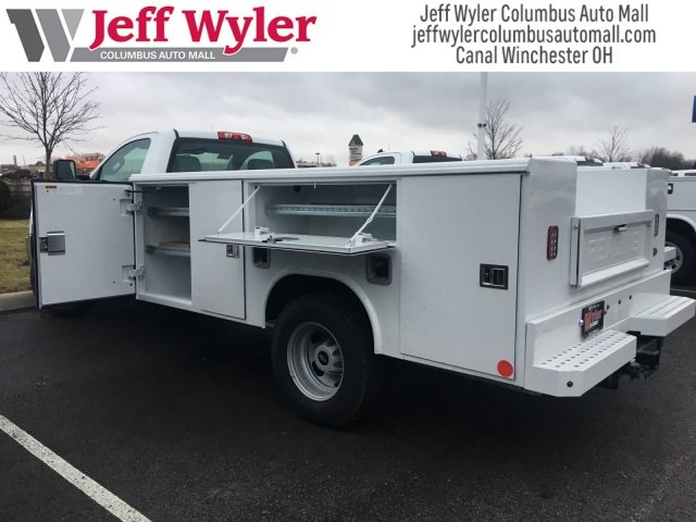2017 Silverado 3500 Regular Cab DRW 4x4,  Reading Classic II Steel Service Body #S90555 - photo 2