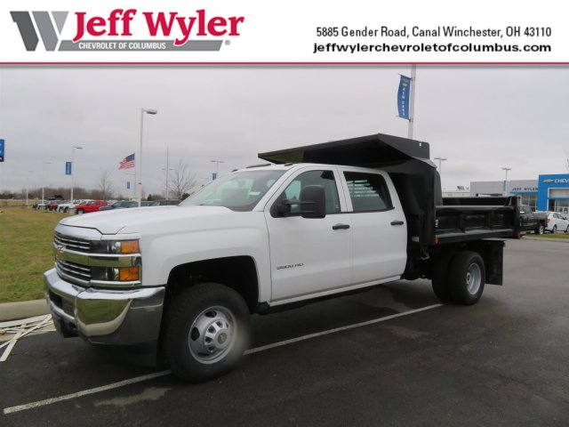 2018 Silverado 3500 Crew Cab DRW 4x4, Dump Body #S90699 - photo 1