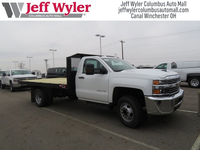 2018 Silverado 3500 Regular Cab DRW, Monroe Platform Body #S90702 - photo 4