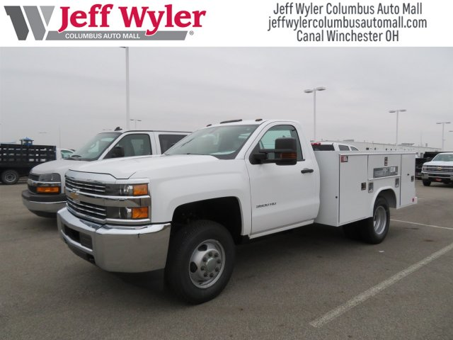 2017 Silverado 3500 Regular Cab DRW 4x4,  Reading Service Body #S90712 - photo 4