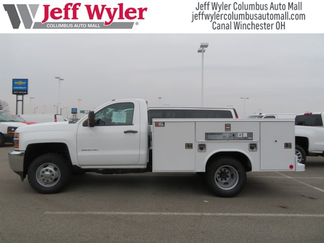 2017 Silverado 3500 Regular Cab DRW 4x4,  Reading Service Body #S90712 - photo 2