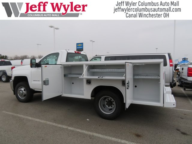 2017 Silverado 3500 Regular Cab DRW 4x4,  Reading Service Body #S90712 - photo 5