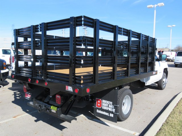 2017 Silverado 3500 Regular Cab DRW 4x4, Reading Stake Bed #S90724 - photo 2
