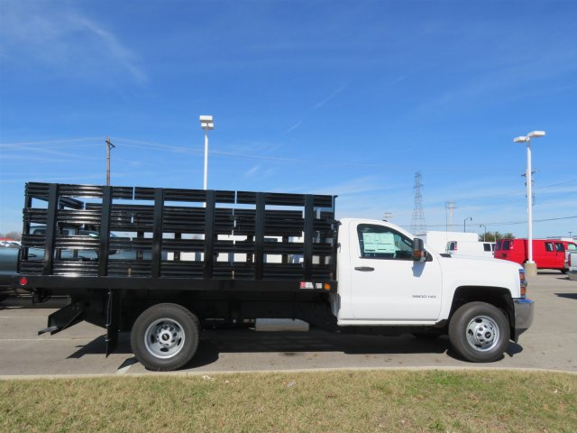 2017 Silverado 3500 Regular Cab DRW 4x4, Reading Stake Bed #S90724 - photo 8