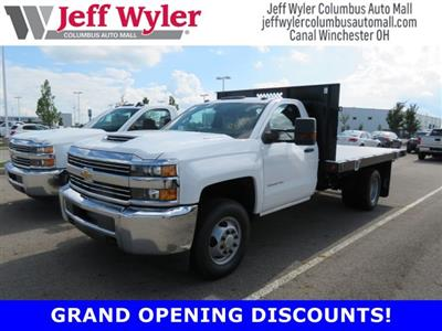 2018 Silverado 3500 Regular Cab DRW 4x4,  Reading Platform Body #S90860 - photo 1