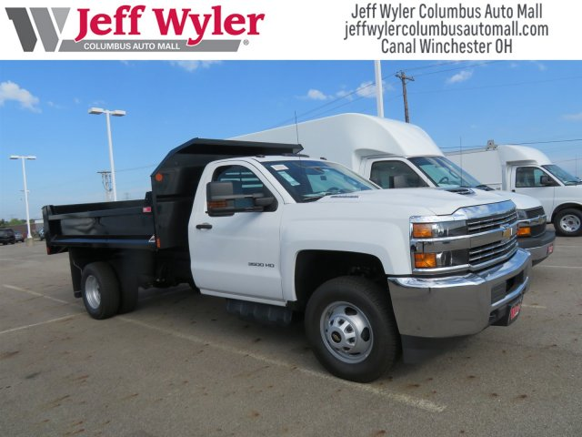 2018 Silverado 3500 Regular Cab DRW 4x4,  Monroe Dump Body #S90862 - photo 4