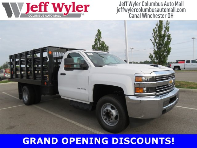 2018 Silverado 3500 Regular Cab DRW 4x2,  Monroe Work-A-Hauler II Stake Bed #S90864 - photo 1