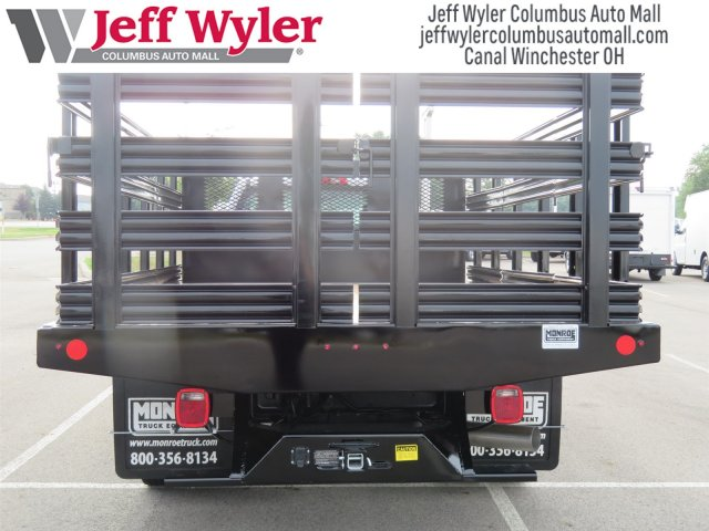 2018 Silverado 3500 Regular Cab DRW 4x2,  Monroe Work-A-Hauler II Stake Bed #S90864 - photo 9