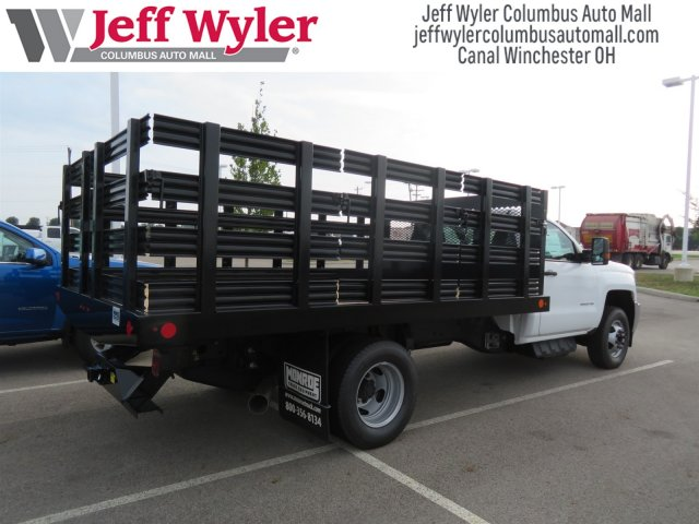 2018 Silverado 3500 Regular Cab DRW 4x2,  Monroe Work-A-Hauler II Stake Bed #S90864 - photo 2