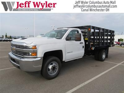2018 Silverado 3500 Regular Cab DRW 4x2,  Monroe Work-A-Hauler II Stake Bed #S90864 - photo 4