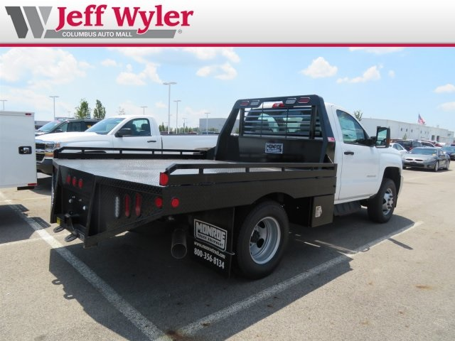 2018 Silverado 3500 Regular Cab DRW 4x4,  Hillsboro Platform Body #S90865 - photo 2