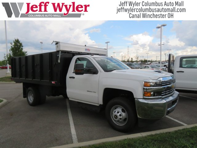 2018 Silverado 3500 Regular Cab DRW 4x4,  Monroe Landscape Dump #S90955 - photo 4