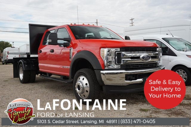 Lafontaine Ford Lansing >> 2019 F 450 Crew Cab Drw 4x4 Southern Truck Equipment Hooklift Body Stock 19f699