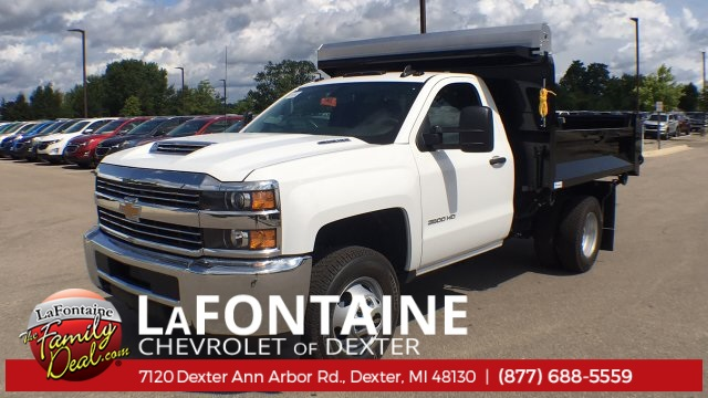 2018 Silverado 3500 Regular Cab DRW 4x4,  Knapheide Rigid Side Dump Body #18C2129 - photo 12