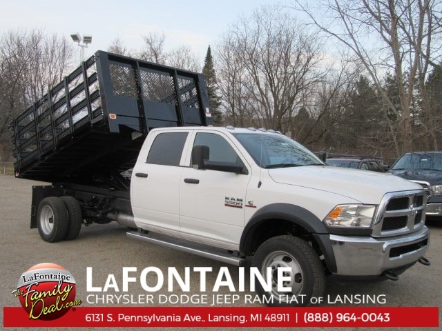 2017 Ram 5500 Crew Cab DRW 4x4, Knapheide Heavy-Hauler Junior Stake Bed #17L1412 - photo 1