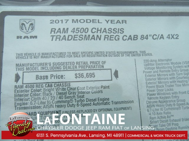 2017 Ram 4500 Regular Cab DRW, Knapheide Stake Bed #17L1855 - photo 17