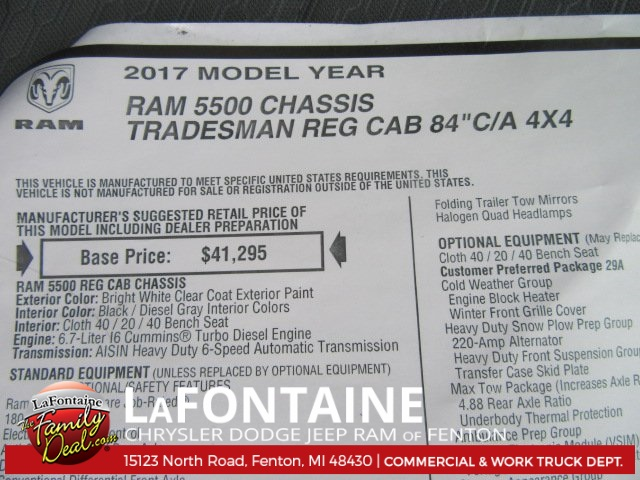 2017 Ram 5500 Regular Cab DRW 4x4 Contractor Body #17L2557 - photo 15