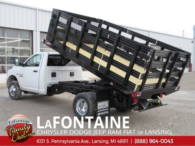 2017 Ram 3500 Regular Cab DRW 4x2,  Monroe Work-A-Hauler II Stake Bed #17L2675 - photo 3