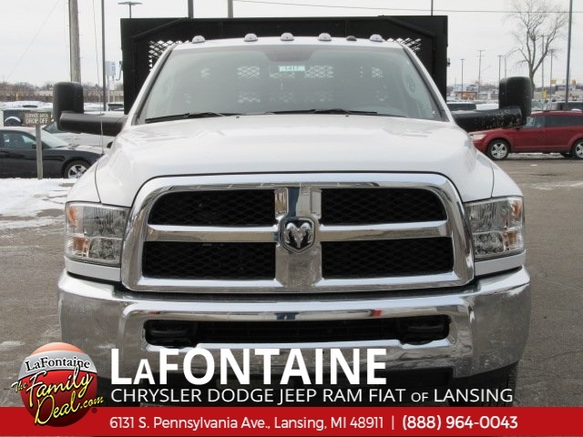 2017 Ram 3500 Regular Cab DRW 4x2,  Monroe Work-A-Hauler II Stake Bed #17L2675 - photo 6