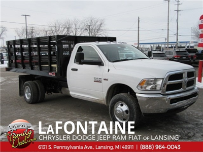 2017 Ram 3500 Regular Cab DRW 4x2,  Monroe Work-A-Hauler II Stake Bed #17L2675 - photo 36