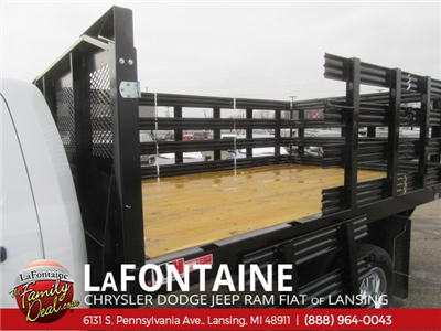 2017 Ram 3500 Regular Cab DRW 4x2,  Monroe Work-A-Hauler II Stake Bed #17L2675 - photo 8