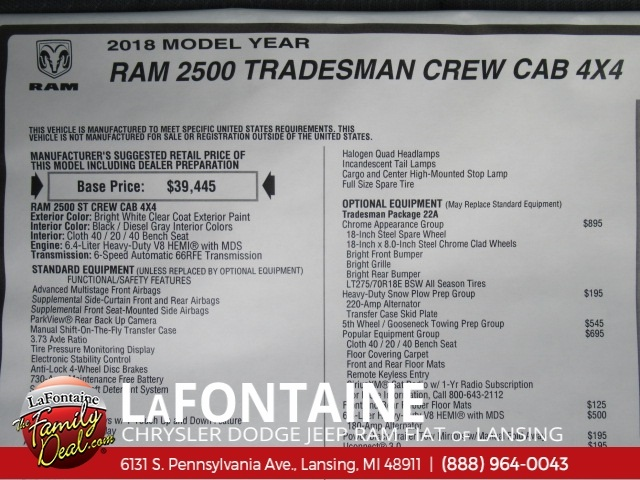2018 Ram 2500 Crew Cab 4x4,  Pickup #18L1896 - photo 7