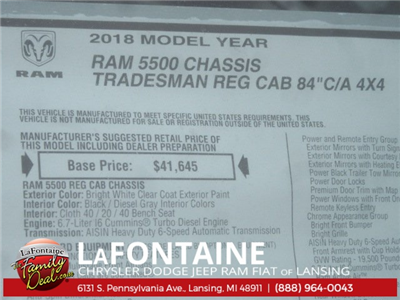 2018 Ram 5500 Regular Cab DRW 4x4 Cab Chassis #18L435 - photo 12