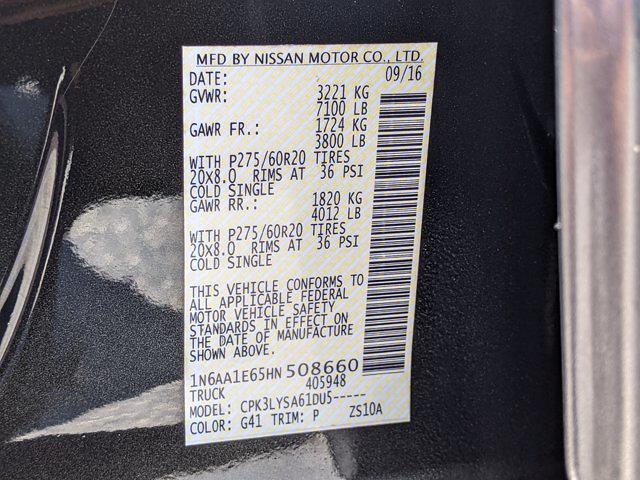 2017 Nissan Titan Crew Cab 4x2, Pickup #HN508660 - photo 26