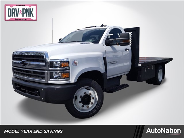 2019 Silverado Medium Duty Regular Cab DRW 4x2, Simplified Fabricators, Inc. Stake Bed #KH886170 - photo 1