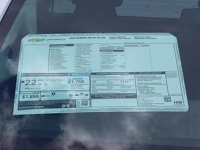 2020 Chevrolet Colorado Extended Cab 4x2, Pickup #L1246562 - photo 8