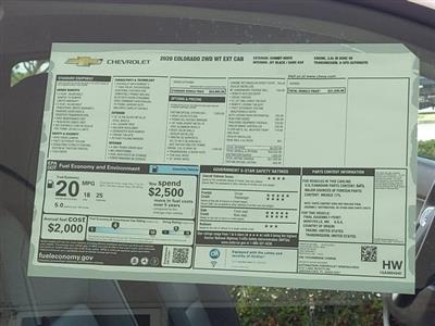 2020 Chevrolet Colorado Extended Cab 4x2, Pickup #L1248948 - photo 9