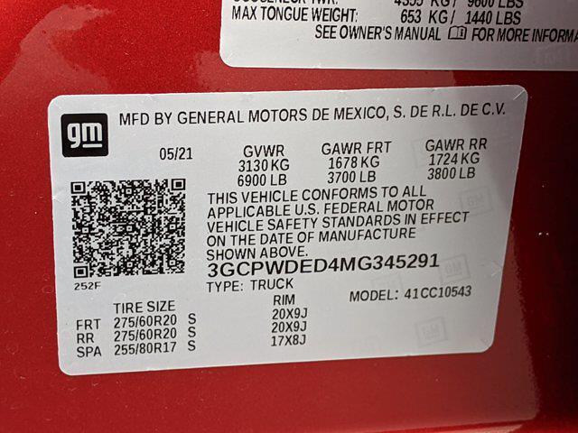 2021 Chevrolet Silverado 1500 Crew Cab 4x2, Pickup #MG345291 - photo 16
