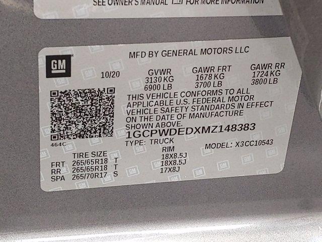 2021 Chevrolet Silverado 1500 Crew Cab 4x2, Pickup #MZ148383 - photo 9