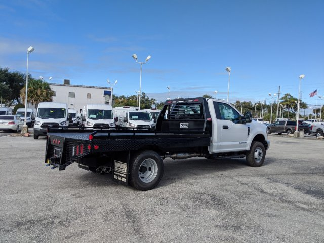 2019 F-350 Regular Cab DRW 4x4, Hillsboro Platform Body #19F1074 - photo 1