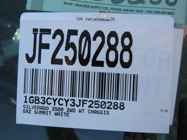 2018 Silverado 3500 Regular Cab DRW 4x2,  Freedom ProContractor Body #JF250288 - photo 17