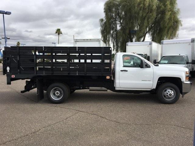 2019 Silverado 3500 Regular Cab DRW 4x2,  Knapheide Value-Master X Stake Bed #KF122382 - photo 5