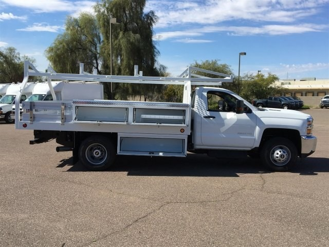 2019 Silverado 3500 Regular Cab DRW 4x2,  Royal Contractor Body #KF158197 - photo 8