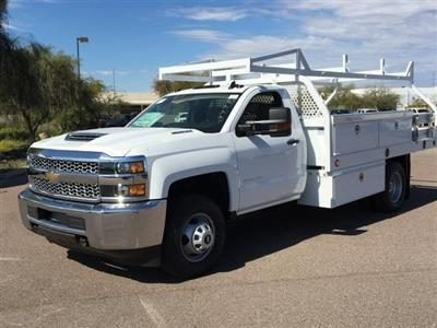 2019 Silverado 3500 Regular Cab DRW 4x2,  Royal Contractor Body #KF158197 - photo 3