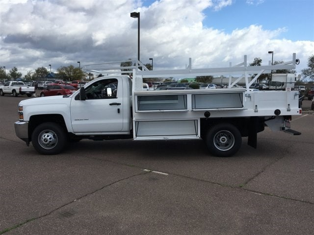 2019 Silverado 3500 Regular Cab DRW 4x2,  Harbor Standard Contractor Body #KF158516 - photo 8
