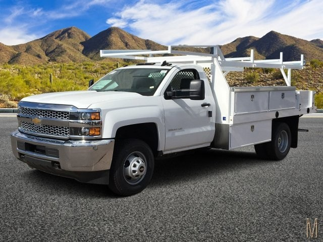2019 Silverado 3500 Regular Cab DRW 4x2,  Harbor Standard Contractor Body #KF158516 - photo 1