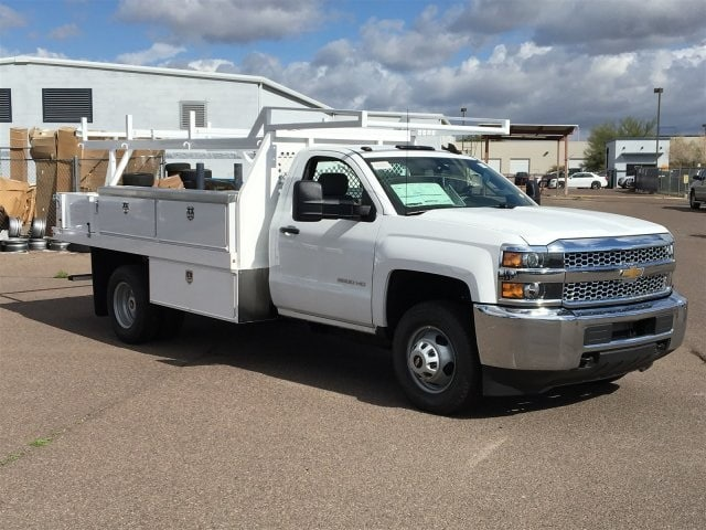 2019 Silverado 3500 Regular Cab DRW 4x2,  Harbor Standard Contractor Body #KF158516 - photo 3