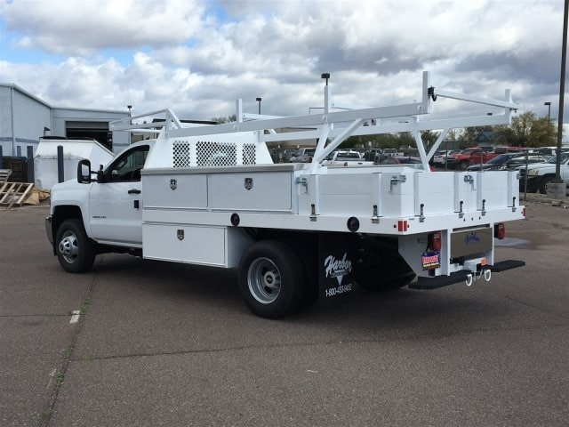 2019 Silverado 3500 Regular Cab DRW 4x2,  Harbor Contractor Body #KF158516 - photo 1
