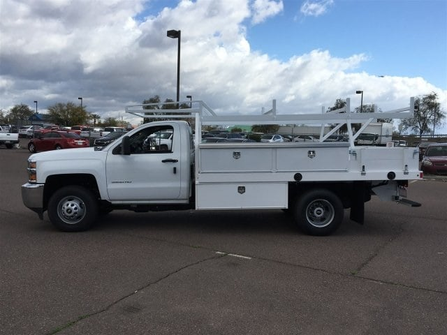 2019 Silverado 3500 Regular Cab DRW 4x2,  Harbor Standard Contractor Body #KF158516 - photo 7