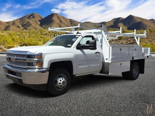 2019 Silverado 3500 Regular Cab DRW 4x2,  Harbor Contractor Body #KF159709 - photo 1